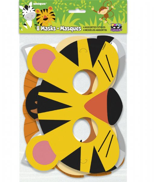 Animal Jungle Party Masks (8)